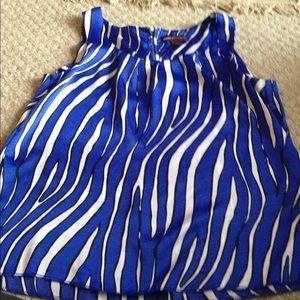 Women's Dana Buchman blue/white tank top size M